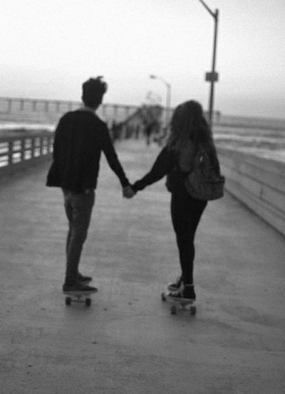 Authentic Moments Sweet Boy And Girl Skateboarding ♡♥♡