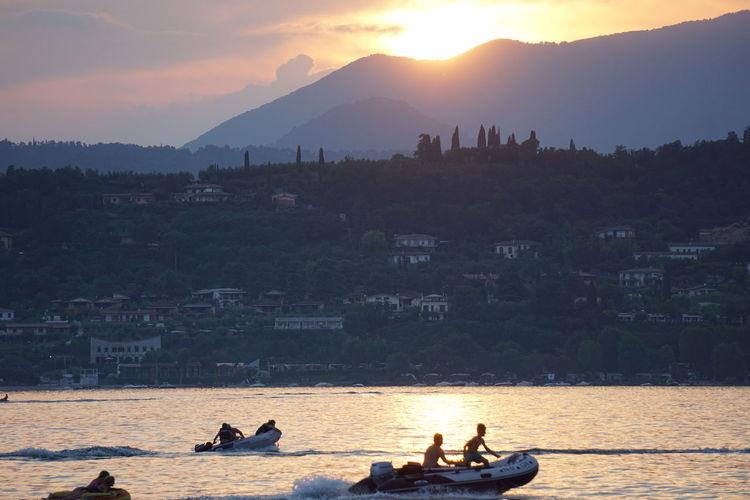 Garda Lake Lago Di Garda, Italy Lake View Nature Sunset Tramonto Sul Lago