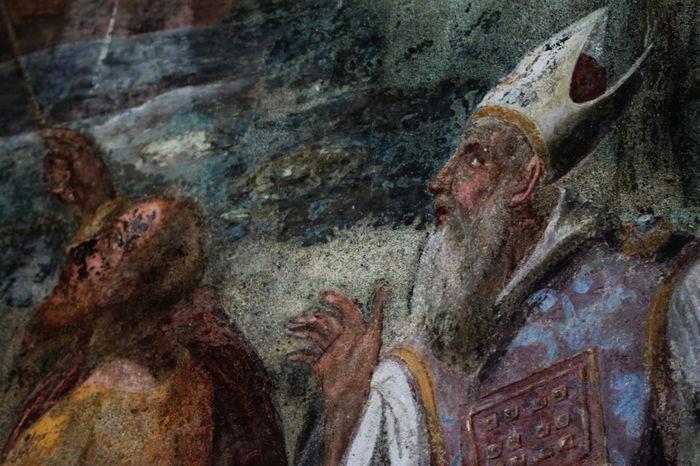 Bishop Close-up Day Deterioration Fresco Italy Men Monastero Santa Chiara No People October 2016 Outdoors