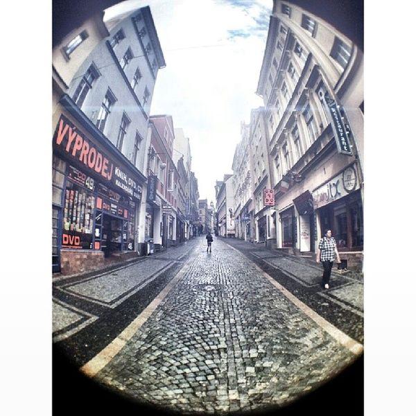 Liberec Street Fisheyephoto Fisheye walk instaphoto