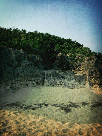Beach Sun Set Itoman City Coast