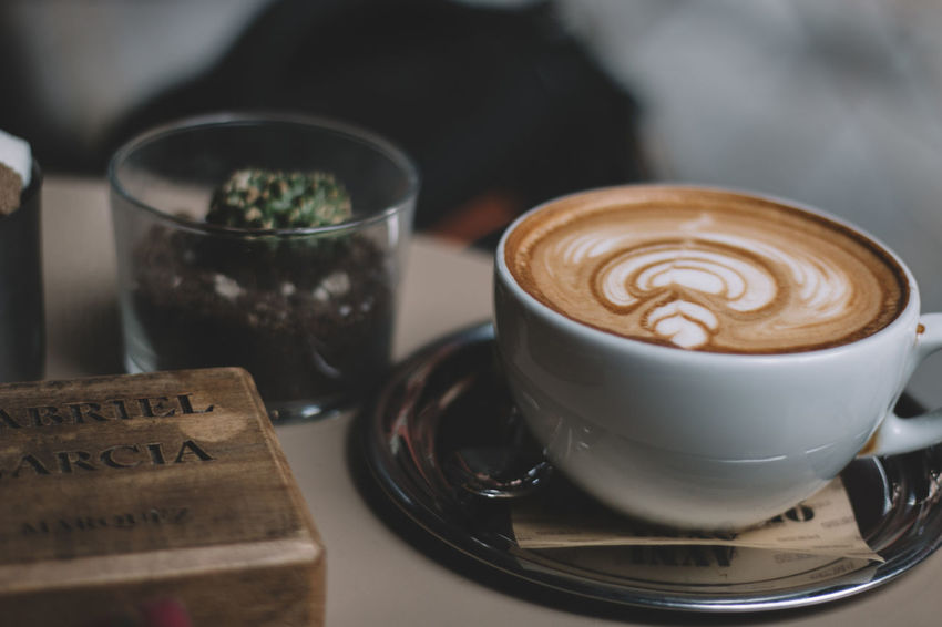 Beverage Canon Cappuccino Close-up Coffee Coffee - Drink Coffee Cup Cup Drink Focus On Foreground Food And Drink Freshness Froth Art Frothy Drink Indoors  Latte Refreshment Saucer Spoon Still Life Table Things VSCO Showcase April