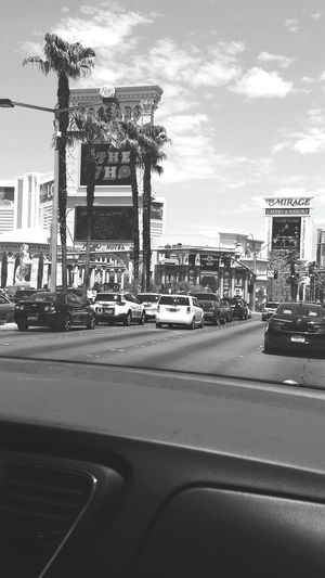 Caesers Palace The Mirage Las Vegas Car Travel Destinations Arts Culture And Entertainment Sky Day Architecture City No People Outdoors Black And White Friday