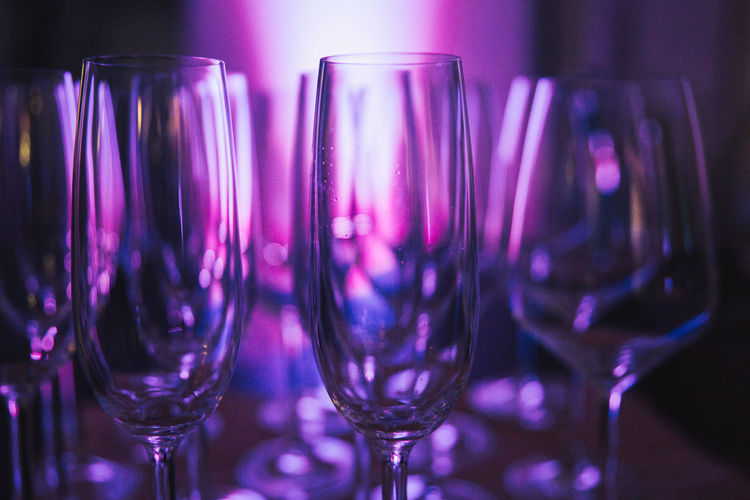 Champagne Champagne Glasses Sektglas Alcohol Bar - Drink Establishment Celebration Close-up Day Drink Drinking Glass Food And Drink Freshness Indoors  Nightclub No People Party - Social Event Purple Purple Tones Refreshment Sekt Sektgläser Shot Glass Still Life Wineglass