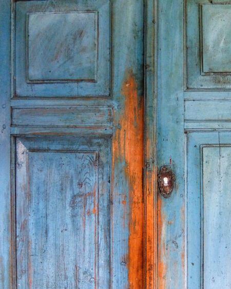 Full frame shot of old wooden door