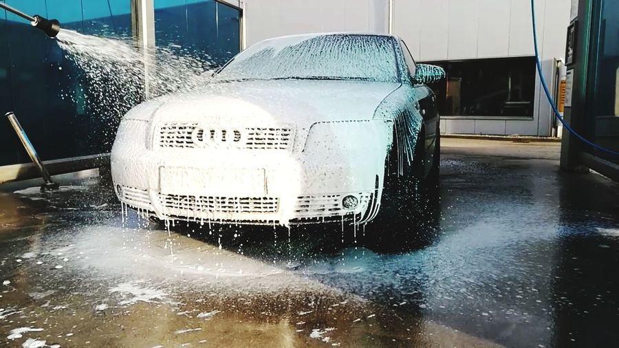 Water Washing Wet Car Wash Cleaning Spraying Audi A4 B6