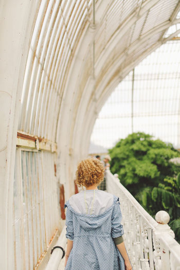 Blonde Casual Clothing Curly Hair Day Focus On Foreground Garden Girl Indoors  Leisure Activity Lifestyles Nature Nature Park Rear View Tourism
