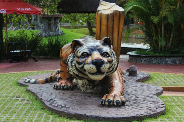 Estatua de leon, parque de diversiones Beto Carrero, Camboriu, Brasil Animal Themes One Animal Day Statue Outdoors Mammal Sculpture No People Tranquility Beto Carrero World