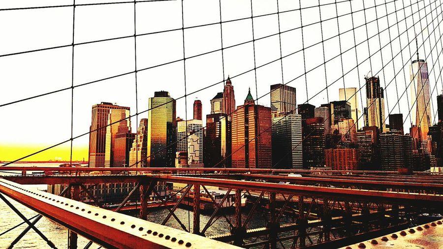 Golden gate bridge against sky in city