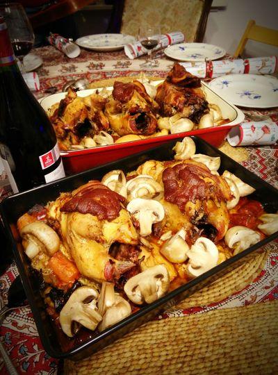 Christmas dinner - half a pheasant each :) Christmas Dinner Yesthatsbacon