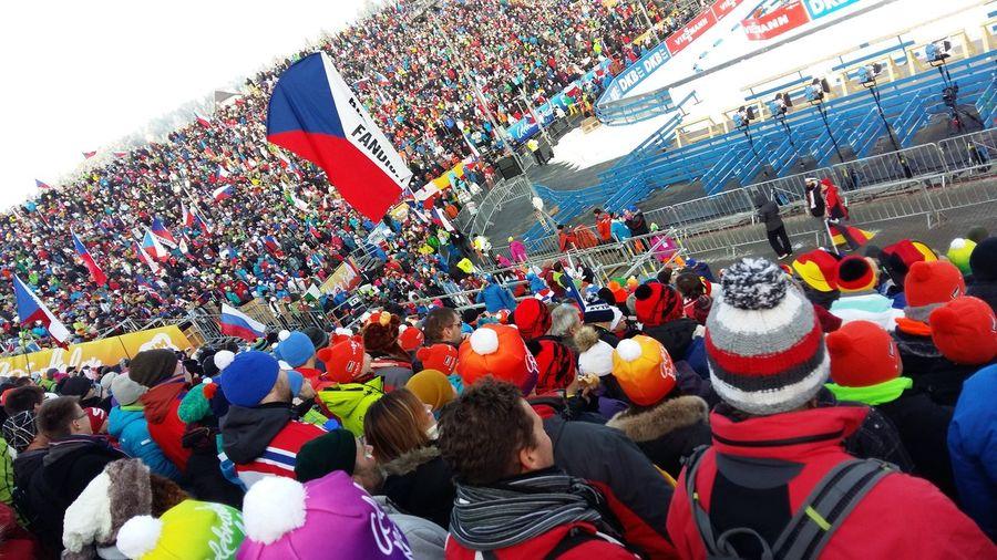 The big crowd of 30.000 czech biathlon fans!!! 💙 Biathlon Novemesto Novemestonamorave Nmnm Crowd Fans People Sport Spectators Competition World Cup Cold Winter Snow December Christmas Is Coming Nove Mesto Na Morave Czech Republic