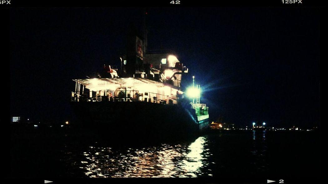 Nightphotography Boat Light Chaophraya