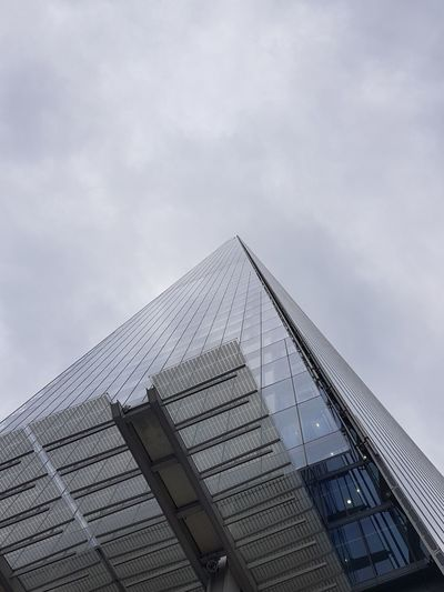 Architecture Low Angle View Built Structure Modern Sky Cloud - Sky Day Outdoors Skyscraper No People Building Exterior City The Great Outdoors - 2017 EyeEm Awards The Photojournalist - 2017 EyeEm Awards Live For The Story Photography Eyeemphotography EyeEm Best Shots England Uk Architecture London The Shard The Architect - 2017 EyeEm Awards