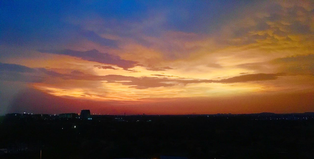 sunset, sky, silhouette, orange color, cityscape, city, no people, architecture, nature, building exterior, beauty in nature, scenics, outdoors