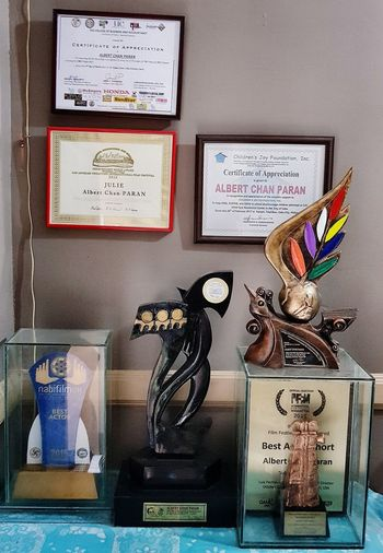 My WALL OF FAME Focus On The Story Awards Trophy Trophies Trophies🏆 Plaque Certificate EyeIMNewHere Cebu Cebu City Cebu Philippines Best Actor National Best Actor Award International Best Actor Award Presidential State Honor Most Outstanding Honor Spirit Award Film Ambassador Award Multi Colored Focus On The Story EyeEmNewHere