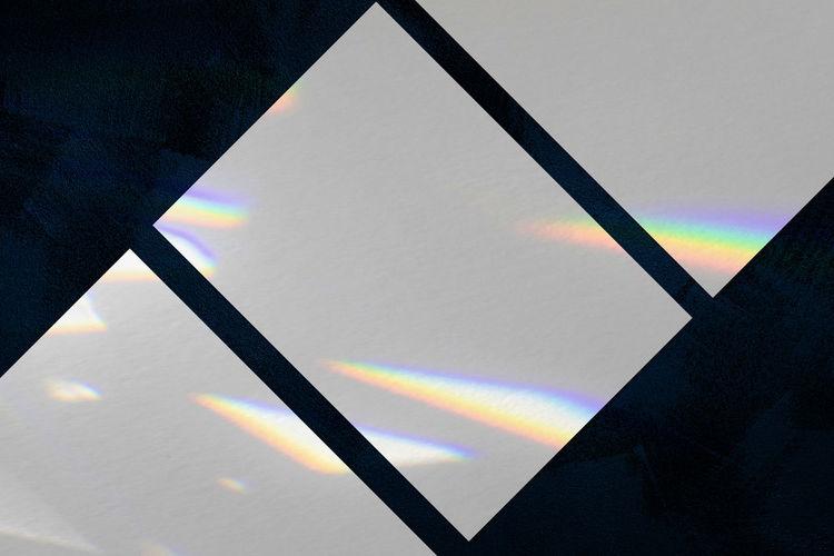High angle view of rainbow on wall