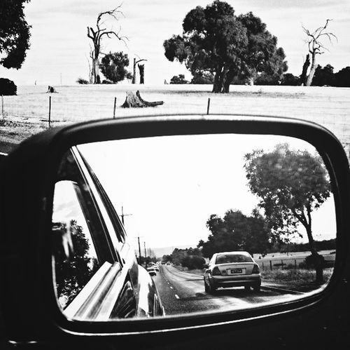 Rear View Mirror Picture Just Driving Frame It!