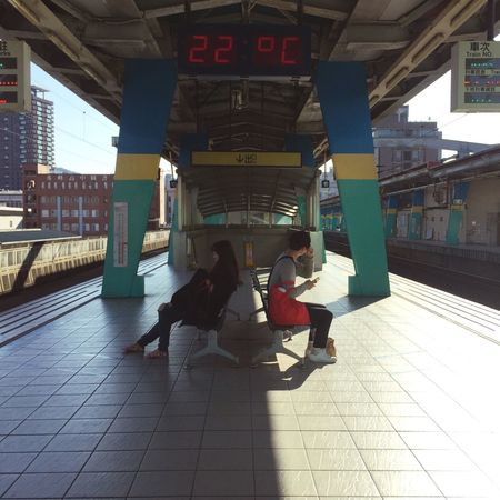 Waiting for my train. Transportation Real People Architecture Railroad Station Travel Rail Transportation Railroad Station Platform