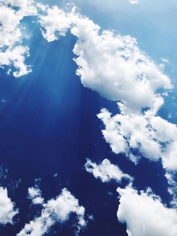 Heaven Cloud - Sky Sky Beauty In Nature Low Angle View Nature Blue Tranquility Scenics - Nature No People Day Cloudscape