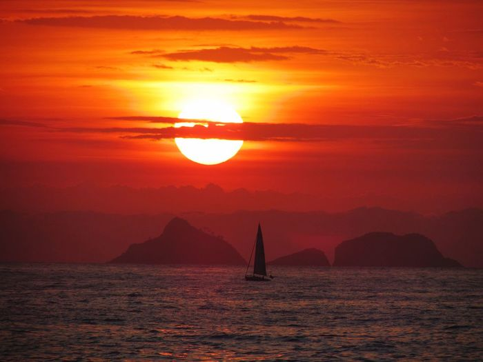 Sunset In Rio de Janeiro Rio De Janeiro Rio De Janeiro Eyeem Fotos Collection⛵ Sunset Sky Water Beauty In Nature Orange Color Scenics - Nature Sun Tranquil Scene Nature Silhouette Tranquility Sea Sunlight Idyllic Waterfront Transportation Reflection No People Cloud - Sky Outdoors