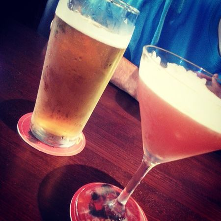 Foamy drinks for me and G (: Millertime Mylove TurnUp Photooftheday Hemingwaymartini