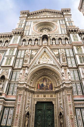 Architecture Building Exterior Duomo Di Firenze Duomo Santa Maria Del Fiore Entrance Firenze Florence Italy Italia Italy Low Angle View Religion Toscana