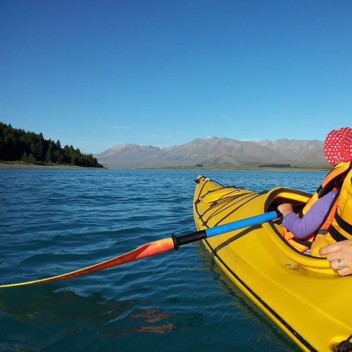 Kayaking on Lake Tekapo New Zealand Kayaking Lake Lake Tekapo