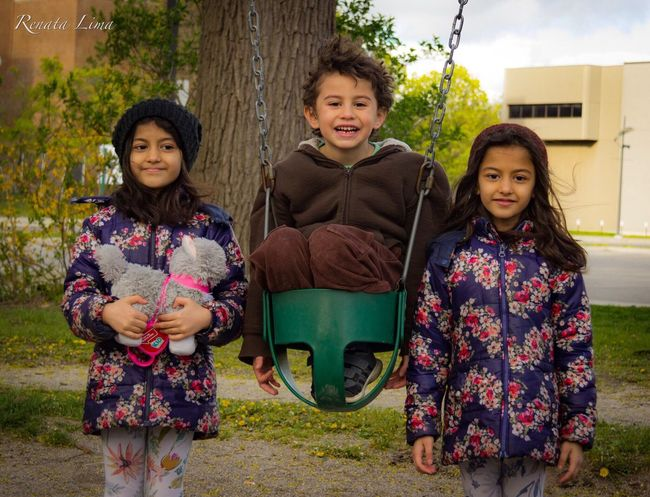 Best Friends Looking At Camera Front Or Back Yard Front View Smiling Portrait Girls Outdoors Togetherness Tree Full Length Childhood House Black Hair Real People Happiness Friendship Day Sitting Child Standing Boy EyeEmNewHere EyeEm Vision