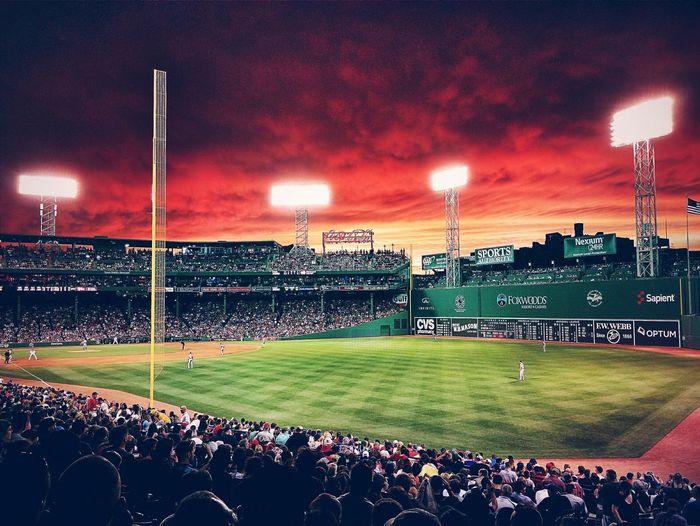 Baseball Game Fenwaypark Skyporn Sunset Nexus5