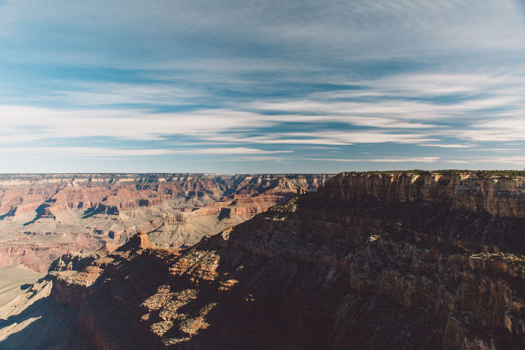 Idyllic view of cliffs against sky at grand canyon national park