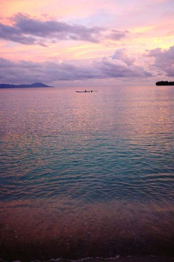 Sunset Scenics Beauty In Nature Water Nature Cloud - Sky Tranquil Scene Tranquility Sky No People Sea Rippled Outdoors Nautical Vessel Day INDONESIA Island Boat Ocean Sunset_collection Saparua
