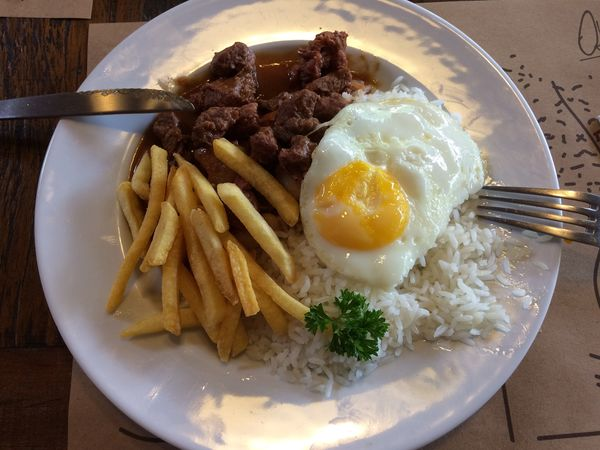 PF Plate Fried Egg Lunch Time! Food Ready-to-eat Table