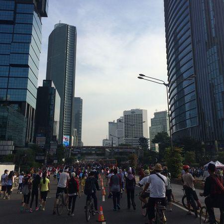 Jakarta Car Free Day Sunday Bicycle
