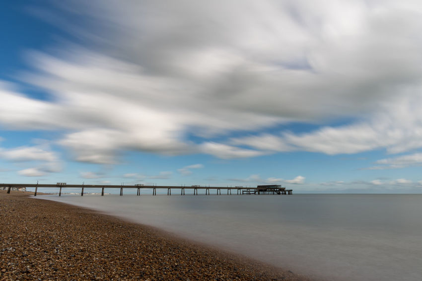 Walimex 12mm Architecture Beach Beauty In Nature Built Structure Cloud - Sky Day Horizon Over Water Long Exposure Nature No People Outdoors Scenics Sea Sky Tranquil Scene Tranquility Water