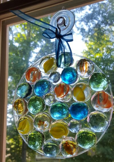 Hand made suncatcher Beautiful Suncatcher Blue Close-up Day Glass Stones Green Hampton, NH Hanging In A Window Multi Colored No People Suncatchers Window Suncatcher Yellow