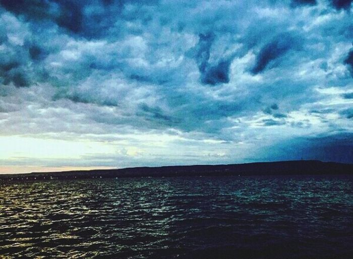 😋🙌🐾☁🌊🌅🌏👙🔝 Sea Scenics Nature Cloud - Sky Dramatic Sky Water Beauty In Nature No People Horizon Over Water Sunset Summer Burgas, Bulgaria Lifestyles Holidays ☀ Sand Nightlife Beach Family First Eyeem Photo