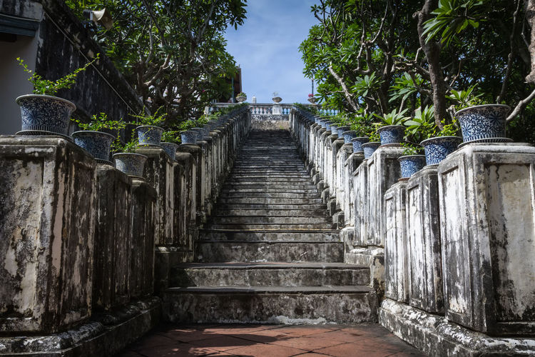 บันไดเขาวัง เพชรบุรี Stairway Architecture Built Structure Direction Outdoors Stair Travel Destinations