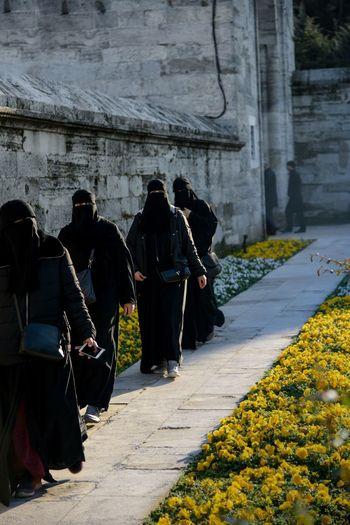 Black covered women in Turkey Muslim Woman Arabian Woman Religion Black Clothes