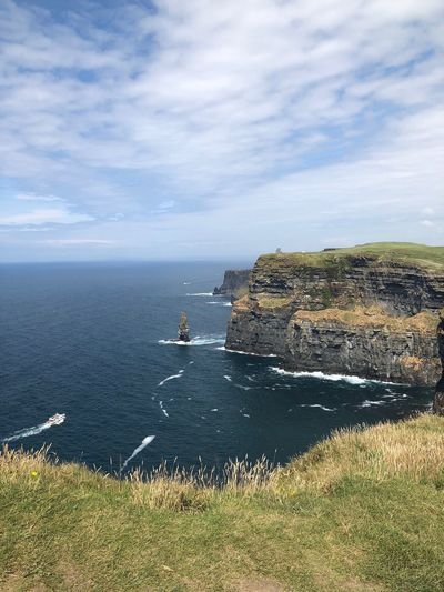 Cliffs of Moher Liscannor Tourism Tourist Destination Ireland🍀 Water Sky Cloud - Sky Scenics - Nature Beauty In Nature Horizon Over Water Water Sky Cloud - Sky Scenics - Nature Beauty In Nature Horizon Over Water Horizon Tranquil Scene Nature Rock Day Cliff Outdoors Rock Formation Tranquility