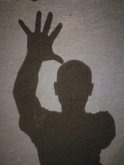Human Hand Silhouette Men Shadow Gesturing
