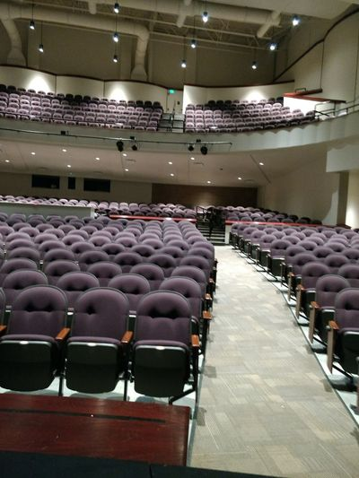 Auditorium Foldable Indoors  Lights On No People Seats Stage - Performance Space