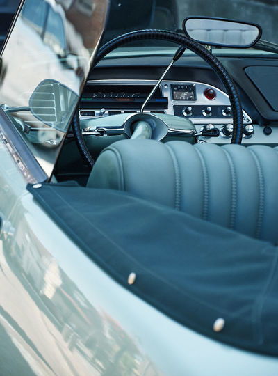 Beautiful classic citroen Classic Car Car Car Interior Close-up Control Panel Day Glass - Material Indoors  Land Vehicle Luxury Mode Of Transportation Motor Vehicle No People Road Trip Seat Selective Focus Stationary Steering Wheel Transportation Travel Vehicle Interior Vehicle Seat