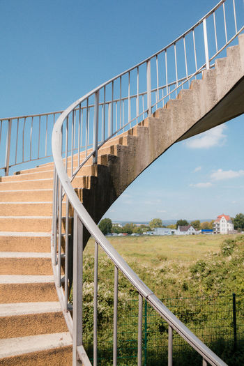 View Of Outdoor Winding Staircase Against Sky