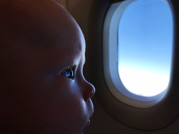 A life ahead EyEmNewHere Soaking It In Babytraveler Airtravel Child Airplane Vehicle Interior Childhood Air Vehicle Window One Person Travel Headshot Looking Through Window Innocence Close-up Baby
