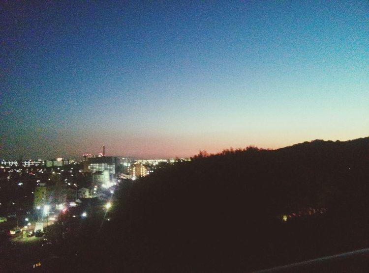 ウチのマンションからの景色ですグラデーション 夜