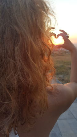 Sunset Sunset_collection Sunset Silhouettes Taking Photos Sunset Lovers Sunsetsunrise_photo Sunsetsun Girl Hair Young Younger Adult Girls Night Girlsday holiday Heart ❤