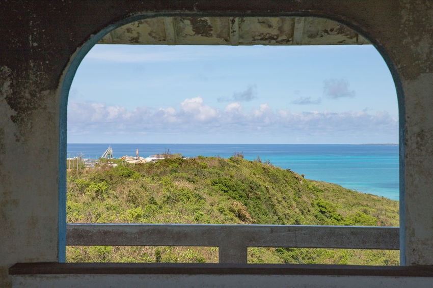 Happiness Holiday Okinawa Shiny Sunlight Vacations Arch Architecture Beauty In Nature Cloud - Sky Day Horizon Over Water Miyakojima Nature No People Outdoors Scenics Sea Sky Summer Tranquil Scene Tranquility Tree Water Window