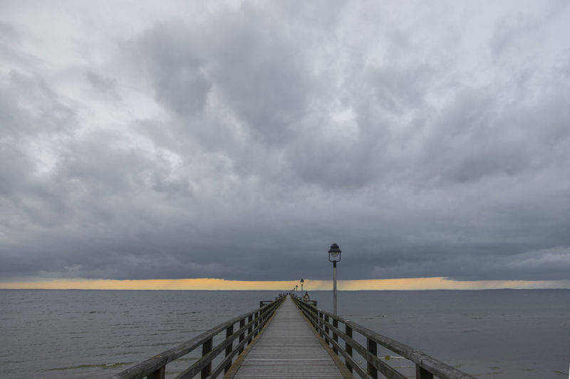 Europe Germany Mecklenburg-Vorpommern Ostsee Lubmin Seebrücke niemand Wolken Sonnenuntergang Horizont Baltic See Beauty In Nature Cloud - Sky Cloudy GERMANY🇩🇪DEUTSCHERLAND@ Horizon Horizon Over Water Idyllic Jetty View Lubmin Mecklenburg-Vorpommern Ocean Ostsee Outdoors Pier Pier Scenics Sea Seebrücke Sky The Way Forward Tranquility Water