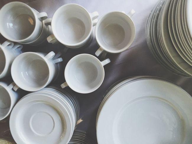 Dishes Plates Plate Buffet Wedding Dinnerware  Tableware White Monochrome Blackandwhite Black And White Black & White