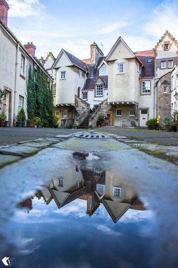 White Horse Close © Paul Cunningham - Edinburgh Photo Guy Built Structure Puddle Reflection